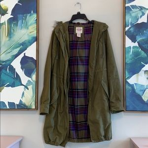 Mossimo Supply Co Olive Green Small Hooded Jacket